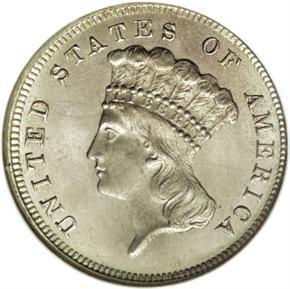 1867 J-597 $3 PF obverse
