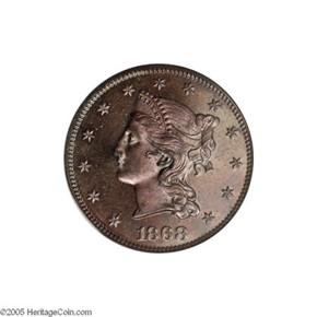 1868 J-662 $10 PF obverse