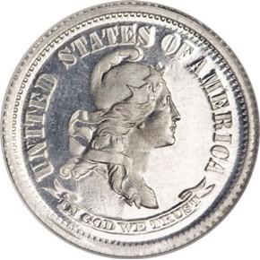1869 J-700 10C PF obverse