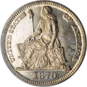 1870 J-797 3CS PF obverse