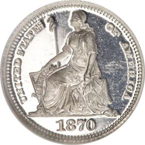 1870 J-819 H10C PF obverse