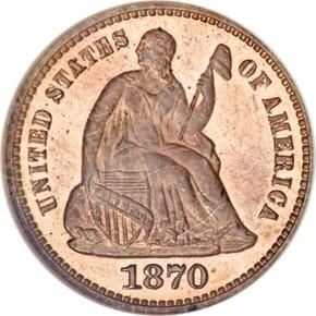 1870 J-821 H10C PF obverse