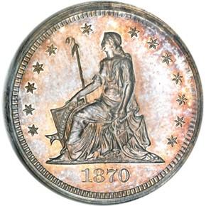1870 J-877 25C PF obverse