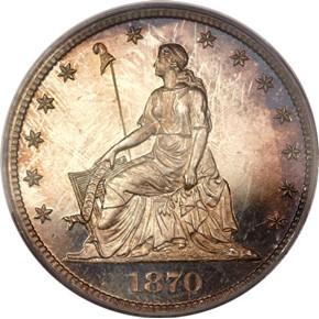 1870 J-934 50C PF obverse