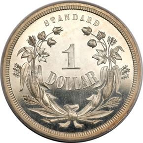 1870 J-997 S$1 PF reverse