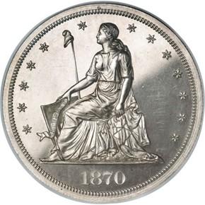 1870 J-1002 S$1 PF obverse