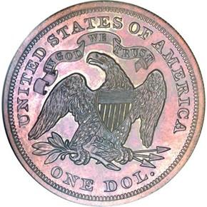 1870 J-1004 S$1 PF reverse