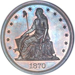 1870 J-1005 S$1 PF obverse