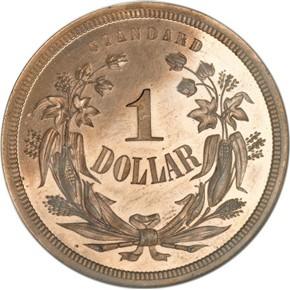 1870 J-1011 S$1 PF reverse