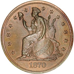 1870 J-1016 S$1 PF obverse