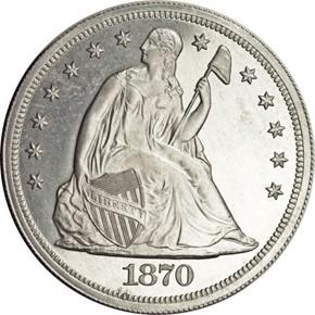 1870 J-1021 S$1 PF obverse