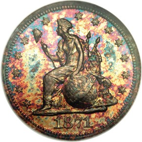 1871 J-1084 10C PF obverse