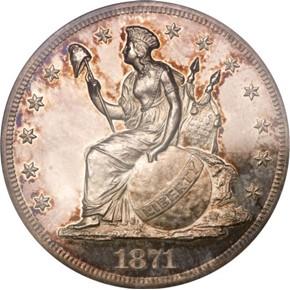 1871 J-1146 S$1 PF obverse