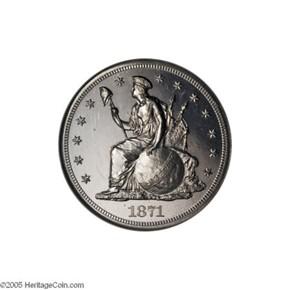 1871 J-1150 S$1 PF obverse