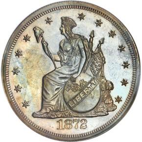 1872 J-1214 T$1 PF obverse