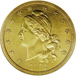 1872 J-1251 GILT $20 PF obverse