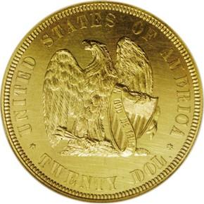1872 J-1251 GILT $20 PF reverse