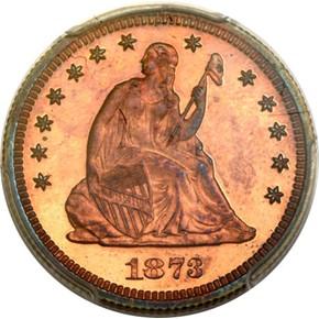 1873 J-1270 25C PF obverse