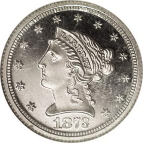 1873 J-1334 $2.5 PF obverse