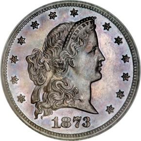 1873 J-1338 $5 PF obverse