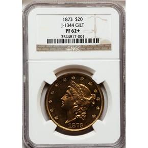 1873 J-1344 GILT $20 PF obverse