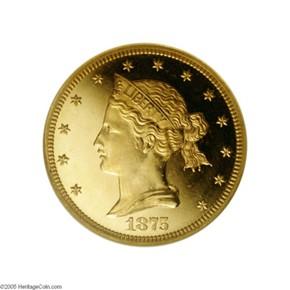 1875 J-1443 $10 PF obverse