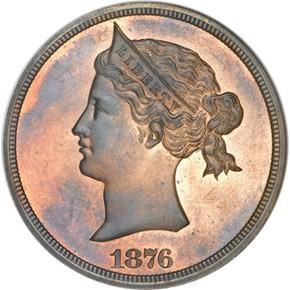 1876 J-1458 S$1 PF obverse