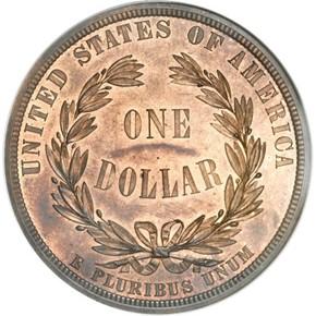1876 J-1458 S$1 PF reverse