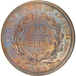 1876 J-1466 S$1 PF reverse