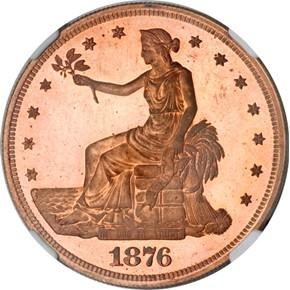 1876 J-1476 T$1 PF obverse