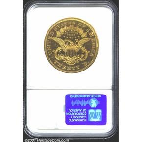 1876 J-1493 GILT $20 PF reverse