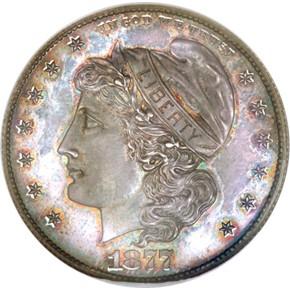1877 J-1539a 50C PF obverse