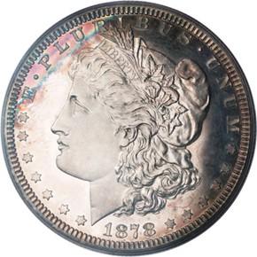 1878 J-1550a S$1 PF obverse