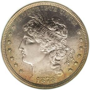 1878 J-1564 S$1 PF obverse