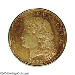 1878 J-1574 $5 PF obverse