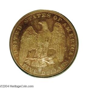 1878 J-1574 $5 PF reverse