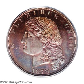1878 J-1574 GILT $5 PF obverse