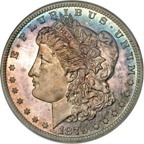 1879 J-1613 S$1 PF obverse