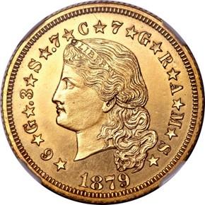 1879 J-1636 GILT $4 PF obverse