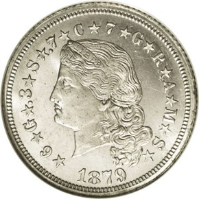 1879 J-1637 GILT $4 PF obverse