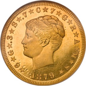 1879 J-1639 GILT $4 PF obverse