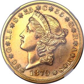 1879 J-1644 GILT $20 PF obverse