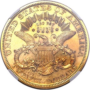 1879 J-1644 GILT $20 PF reverse