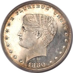 1880 J-1654 S$1 PF obverse