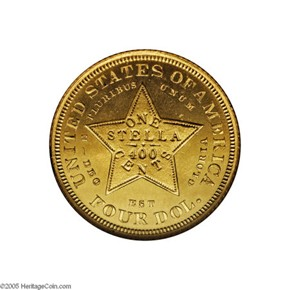 1880 J-1658 GILT $4 PF reverse