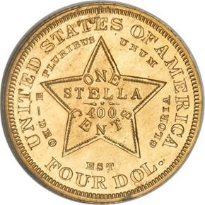 1880 J-1659 GILT $4 PF reverse
