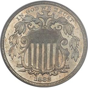 1882 J-1693 5C PF obverse