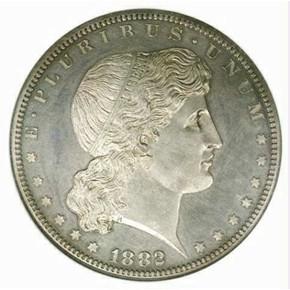 1882 J-1702 S$1 PF obverse