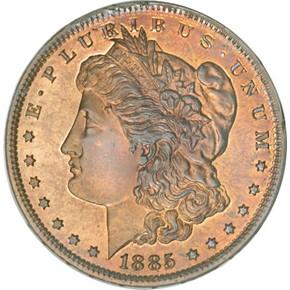 1885 J-1748 S$1 PF obverse