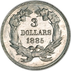 1885 J-1753 $3 PF reverse
